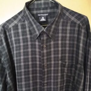 Hathaway Silk Blend Long Sleeve Shirt S XXL 18 1/2